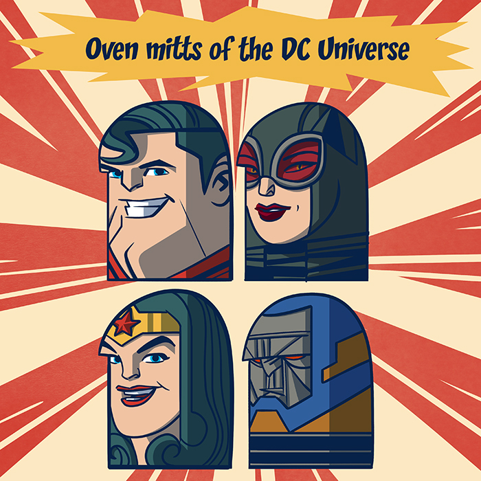 Oven mitts of the DC universe