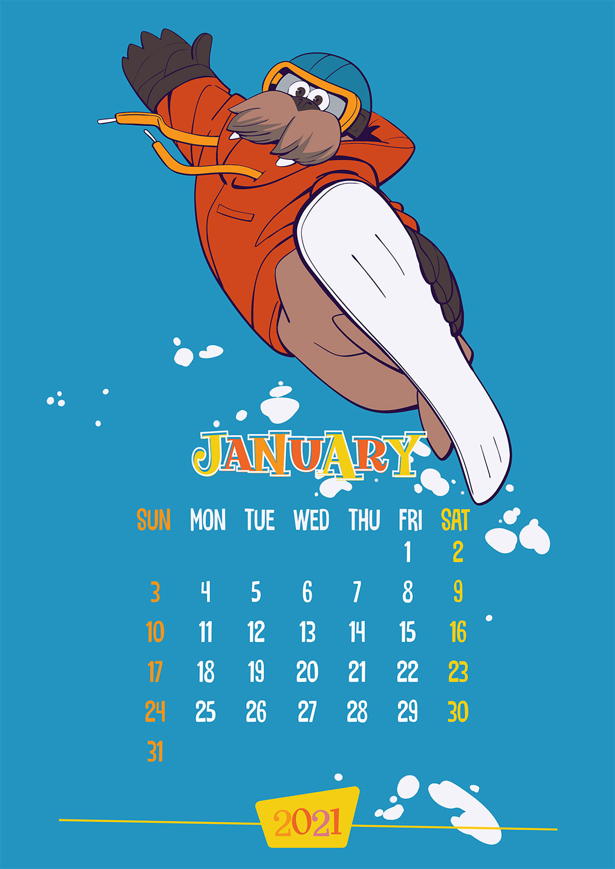 Calendar: January 2021