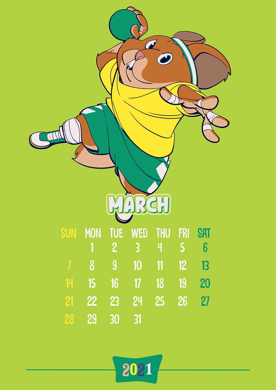 Calendar: March 2021