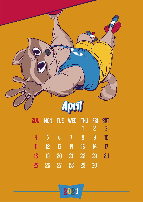 Calendar: April 2021