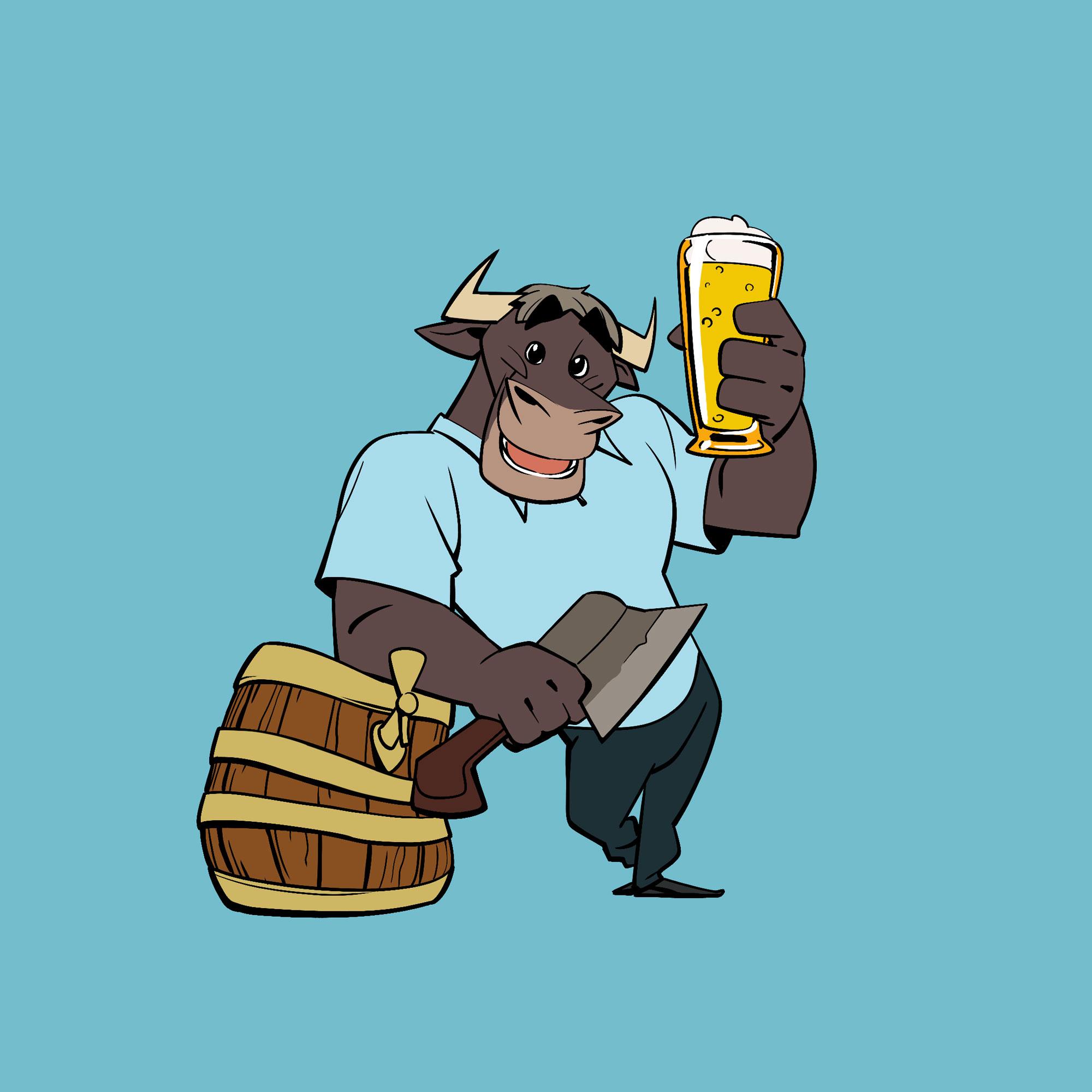 Beer brewer mascot