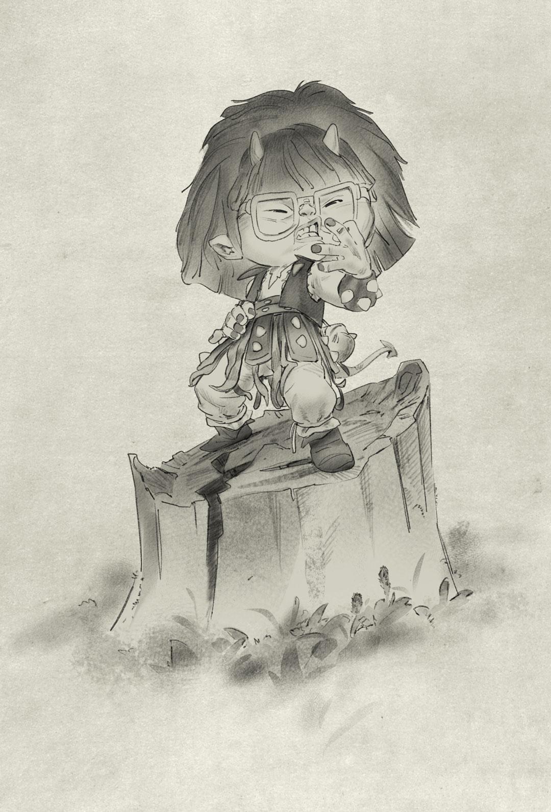 Random figure drawing prompt